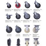 Rotelle del carrello di acquisto della rotella dell'elevatore del fiocco del doppio da 4 pollici