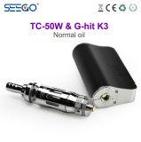 E Cig 도매 중국 Seego는 K3+Tc-50W 장비 액체 Vape 상자 Mod 장비 아마존을 G 명중했다