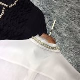 La Ronda está decorado con cordón de seda moda Blusa Manga Larga Camiseta personalizada