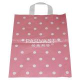 Bolso de compras plástico de la maneta suave material del bucle del HDPE de la buena calidad