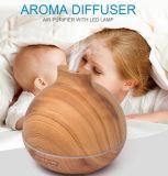 difusor ultrasónico del aroma del nuevo grano de madera del diseño 400ml