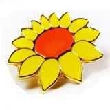 金属の柔らかいエナメルの花のロゴPinのバッジ(XDBG-332)