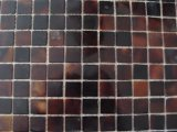 Mosaico de Shell de plumas en la malla
