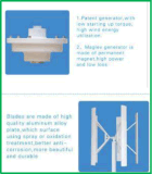 300 AC Maglev van het Huis van watts 12V/24V de Verticale Turbogenerator van de Wind