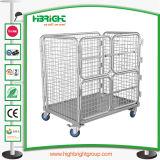 Almacenamiento de Metal Cable Servicio de lavandería Carro con cuatro ruedas