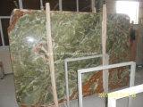 Multicolor зеленый сляб Composited Onxy с стеклянной панелью