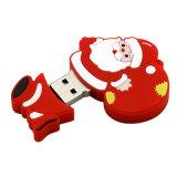 Lecteur flash USB de PVC de cadeau de promotion de Joyeux Noël de nouveau produit