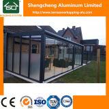 Moderner Aluminiumpergola mit Polycarbonat-Blatt-Dach und Schiebetür