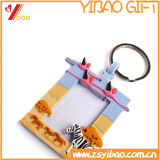 PVC molle Keychain dell'OEM caldo 3D di vendite con il mini blocco per grafici della foto per il regalo di promozione