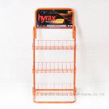 Crémaillère d'étalage mobile orange d'huile de graissage de fer de fil