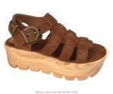Ss18キャンバスのEspadrille様式の女性のウェッジの剣闘士のサンダルの靴