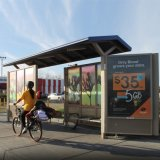 Rua Exterior de alta qualidade a paragem de autocarro de Publicidade Solar Design de Abrigo