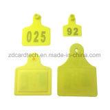 ISO 14443UM 13.56MHz Classic 1K FM11FR08 Chip NFC RFID marca auricular Animal para bovinos