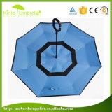 Parapluies promotionnels de parapluies renversés promotionnels protégeant du vent en gros