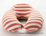 Viajar de la memoria de carbón de bambú de rebote lento de algodón almohada U