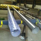 Pulido de 304 a 400# soldada de acero inoxidable tubo decorativo
