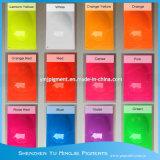 Pour de pigment fluorescent thermoplastique PE, PP, PS, PVC, PET, coloration plastiques ABS