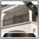 Trilhos de alumínio de pulverização do balcão da segurança do jardim da casa de campo