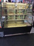 1.2m 광고 방송 자유로운 서 있는 유리제 현대 케이크 진열장