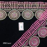 grande Ggeometry tessuto dentellare del merletto della guarnizione del reticolo del cerchio di 8.5cm per gli accessori Hme871 della tessile