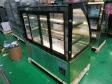 Gâteau d'acier inoxydable doré Dispkay Competetive stand gratuit de la machine avec vitrine de présentation de Pâtisserie de prix