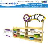 Estante de madera de los cabritos de los cabritos del papel del estante de madera del juego (HC-2401-1C)