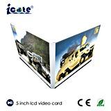 Digitas cartão video elétrico do mercado do negócio de 5.0 da polegada relativa à promoção mini com tela do LCD