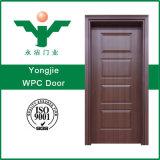 Porte intérieure imperméable à l'eau économique de peinture de WPC pour la cuisine de salle de bains de chambre à coucher