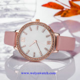Bracelet en cuir OEM Lady Wist quartz watch, Mesdames Montres (WY-17027B)
