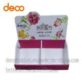Papel de varejo cosméticos Exibir contador de papelão caso superior do display