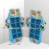 Les jouets mous de bébé vendent la crémaillère d'étalage debout de palette de carton