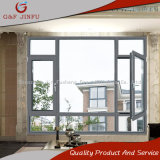Marco de aluminio Windows con el vidrio del claro de la capa doble