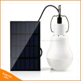 Lumière solaire extérieure de jardin de projecteur de lampe d'ampoule du panneau solaire DEL