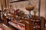 Camino elettrico della scultura TV del Brown della mobilia domestica antica del basamento LED