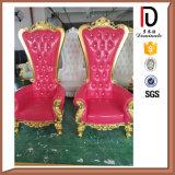 製造業の木製の手動彫刻の王位の椅子のブロムLC030