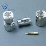 Connecteur coaxial mâle de la bride rf N de fiche pour le câble de LMR400 Rg8