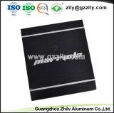 Extrusão de alumínio de alta qualidade para o dissipador de calor do radiador de equipamento de áudio do carro