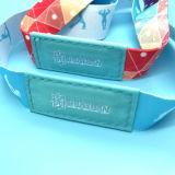 Изготовленный на заказ напечатанный логосом Wristband празднества NFC сплетенный тканью RFID