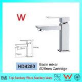 Marca de agua cuarto de baño moderno solo manejar la cuenca de latón toca (HD4250)