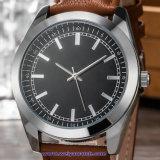 Relojes de encargo de la manera del reloj del cuarzo de la insignia para las señoras de los hombres (WY-17014A)