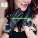 Haut de page Vendre Fashion Mesdames PU Gants d'écran tactile de taille moyenne de l'automne-hiver