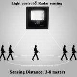 Indicatore luminoso di inondazione solare impermeabile esterno del sensore di radar di a microonde di illuminazione