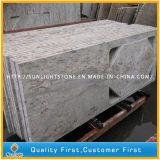 Prefabricated 강 주거 부엌, 목욕탕을%s 백색 화강암 싱크대