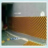 Gomma piuma gialla nera di protezione del garage di parcheggio dell'automobile