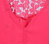 Les femmes de l'été gilet en mousseline occasionnel Tops avec dentelle sans manches du réservoir
