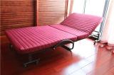Base piegante Rollaway supplementare dell'hotel con il materasso della gomma piuma della coperta di tela