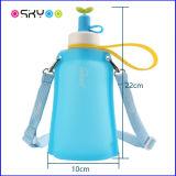 300 мл BPA бесплатно Небольшая портативная силиконовые дети бутылка воды