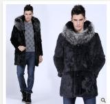 Nouvelles de l'hiver imitation manteau de fourrure de lapin pour les hommes veste de fourrure