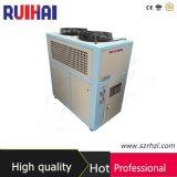 Capacidade refrigerando de refrigeração 1315kcal/H do refrigerador 1.5kw/0.4ton da venda 1/2HP ar quente para a construção que processa o refrigerador industrial do campo