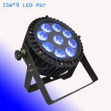 Wasserdichte 9*15W LED NENNWERT Licht DMX esteuerte NENNWERT Dosen